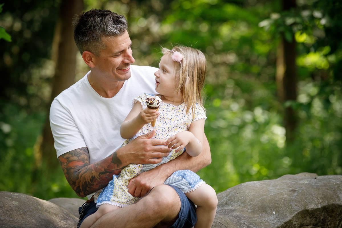 Familie Fotoshooting Vater Tochter