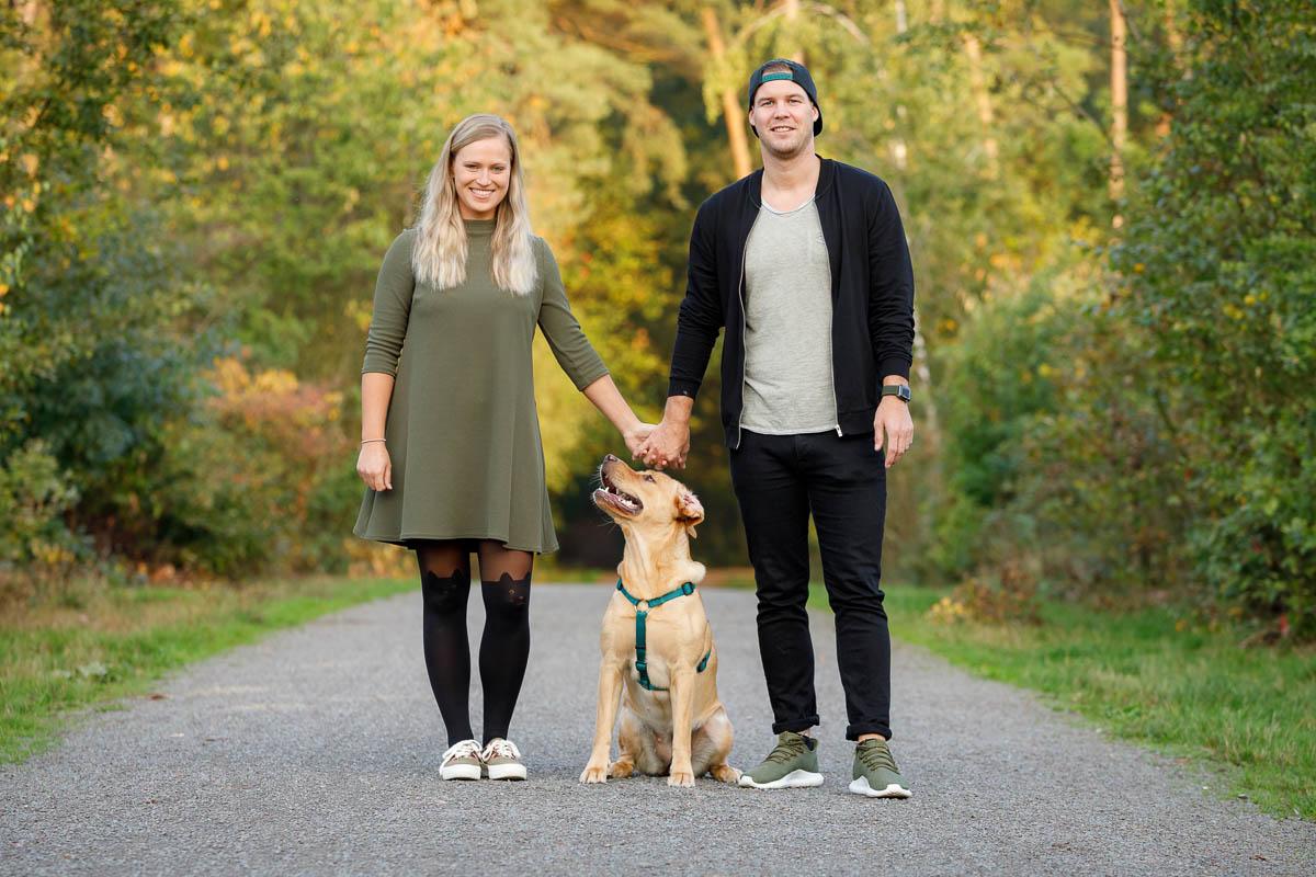 Paar Fotos mit Hund